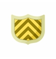 Striped shield icon cartoon style vector image vector image