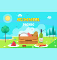 summer picnic composition vector image vector image
