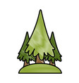 trees pines symbol vector image vector image