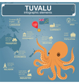 Tuvalu infographics statistical data sights vector image vector image
