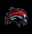 ungry face bird mascot vector image