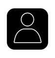 user account box glyph icon vector image vector image