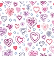 Valentine s day pattern vector image