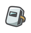 welding mask draw icon cartoon vector image