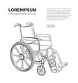 Wheelchair hand drawn vector image vector image