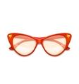 Women vintage glasses vector image