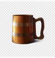 wooden old beer mug isolated on a transparent vector image