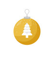 yellow christmas bulb with a picture of snow vector image