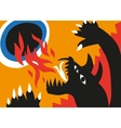 dragon and flame - cartoons vector image