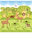 wild animals on the forest vector image