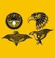 eagle set vector image