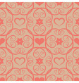 Seamless floral pink pattern with flowers and vector image