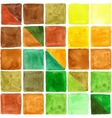 Watercolor geometric square seamless pattern vector image