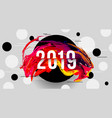 2019 glitched background design template vector image