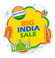 26th january happy republic day of india sale vector image