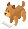 3d design for little puppy vector image vector image