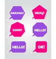 a collection speech message bubbles vector image