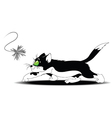 A playful cat vector image vector image