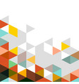 abstract colorful triangle modern template for vector image vector image