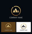 abstract mountain gold triangle logo vector image vector image
