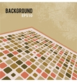 Abstract retro background with mosaic elements vector image vector image