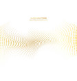 abstract wave curve distort gold dots pattern vector image vector image
