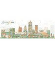 abstract zhengzhou skyline with color buildings vector image vector image