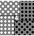 Abstract ZigZag Black White Seamless Pattern Set vector image vector image