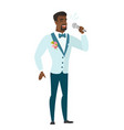 african-american groom singing to the microphone vector image vector image