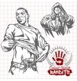 Bandits and hooligans - criminal nightlife vector image vector image