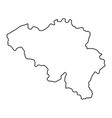 belgium map of black contour curves of vector image vector image