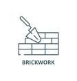brickwork line icon brickwork outline vector image