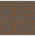 Brown rust texture on metal seamless pattern vector image vector image