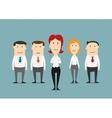 Business team of office clerks with boss vector image vector image