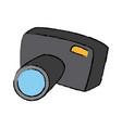 cartoon photo camera flash lens button vector image vector image