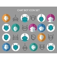 Chat bot icons vector image vector image