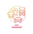 city transport concept icon vector image