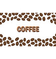 coffee beans background in vintage style hand vector image