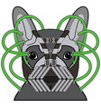 comic villain symbol in dark pipes mask vector image vector image
