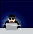 computer hacker design vector image vector image