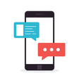 concept a mobile chat or conversation vector image