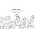 confectionary - modern line design style web vector image vector image