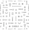 construction hardware screws bolts nuts and vector image