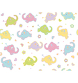 cute elephants flowers vector image vector image