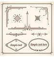 Design Elements Corners vector image vector image