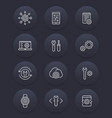 development settings configuration line icons vector image