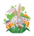 Easter rabbit bunny head vector image vector image