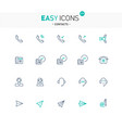 easy icons 27e contacts vector image vector image