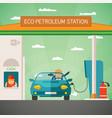eco fuel petrol station concept vector image