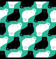 fat white and black cat pattern big thick pet vector image vector image